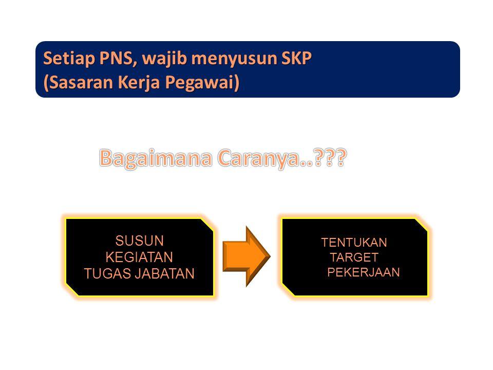 Setiap PNS, wajib menyusun SKP (Sasaran Kerja Pegawai)