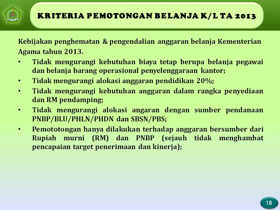 LANGKAH TEKNIS PEMOTONGAN BELANJA K/L TA 2013 (1)