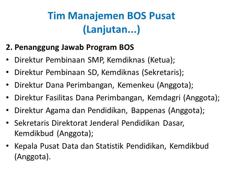 Tim Manajemen BOS Pusat (Lanjutan...)