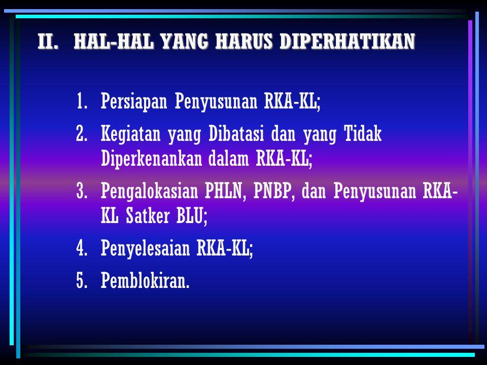 II. HAL-HAL YANG HARUS DIPERHATIKAN