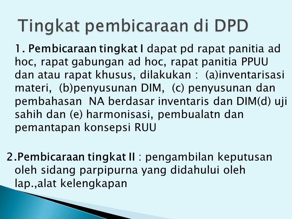 Tingkat pembicaraan di DPD