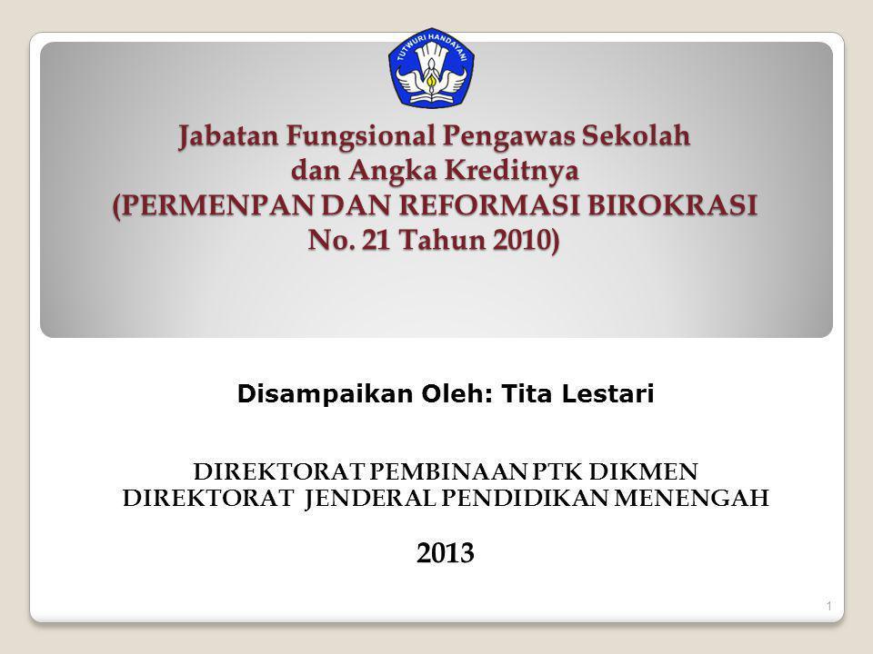 4/3/2017 Jabatan Fungsional Pengawas Sekolah dan Angka Kreditnya (PERMENPAN DAN REFORMASI BIROKRASI No. 21 Tahun 2010)