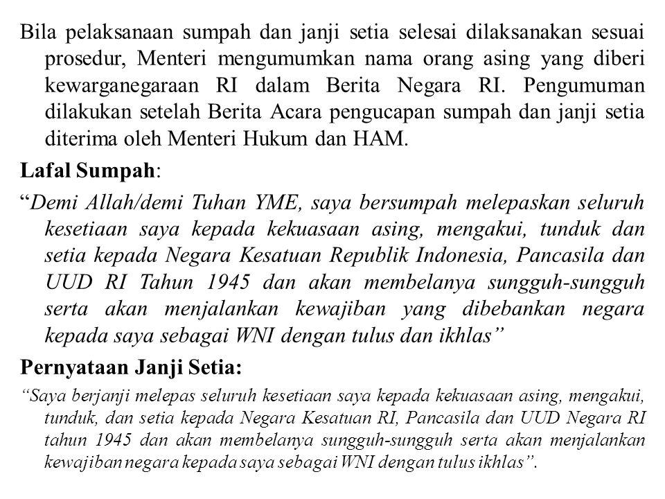 Pernyataan Janji Setia: