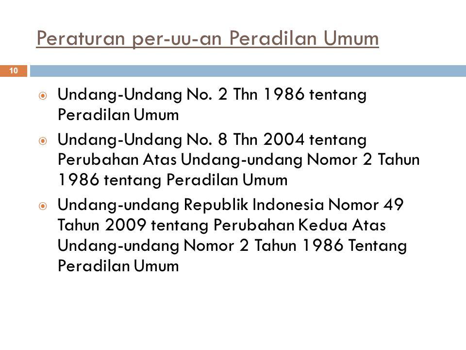 Peraturan per-uu-an Peradilan Umum