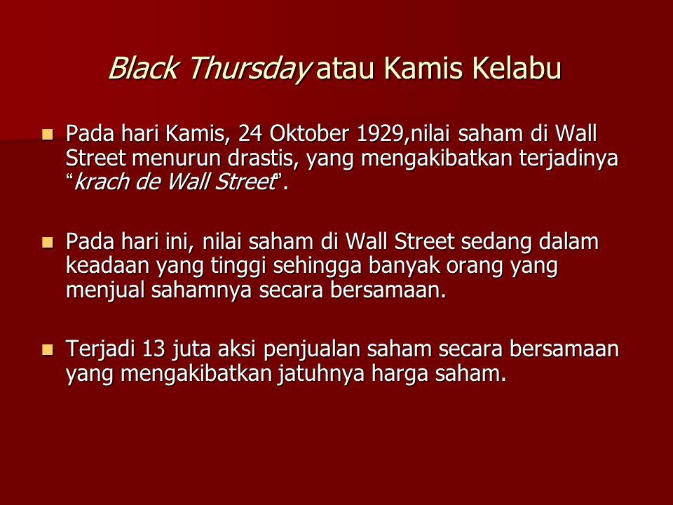 Black Thursday atau Kamis Kelabu