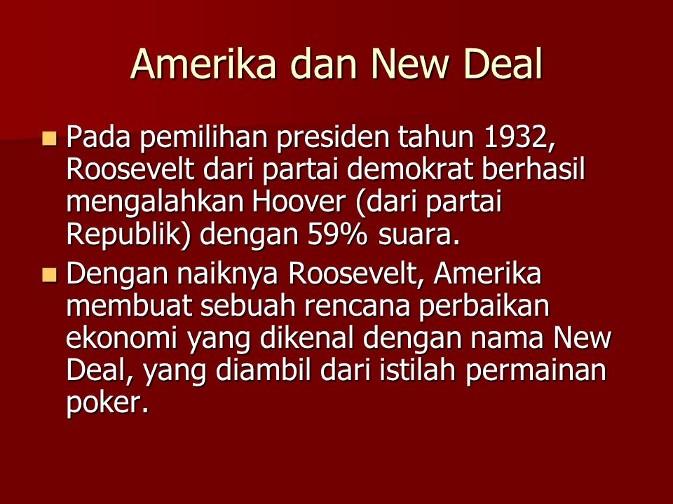 Amerika dan New Deal