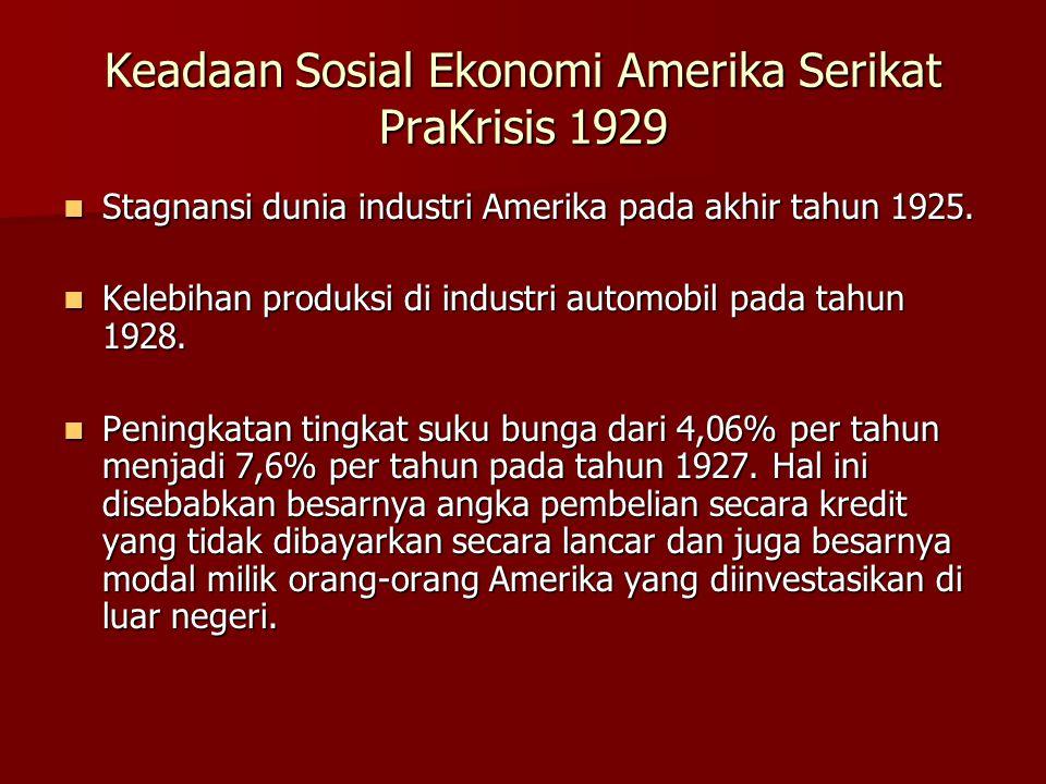 Keadaan Sosial Ekonomi Amerika Serikat PraKrisis 1929