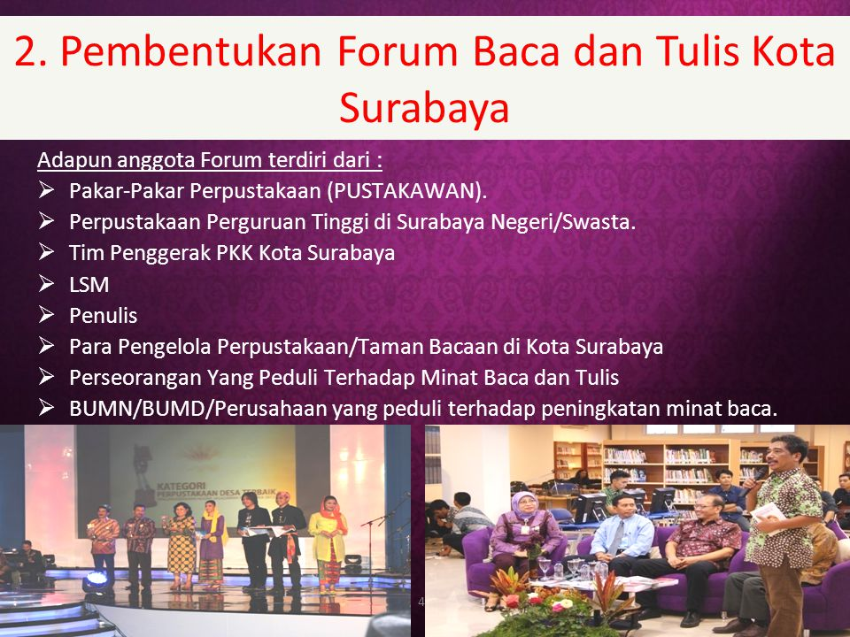 2. Pembentukan Forum Baca dan Tulis Kota Surabaya