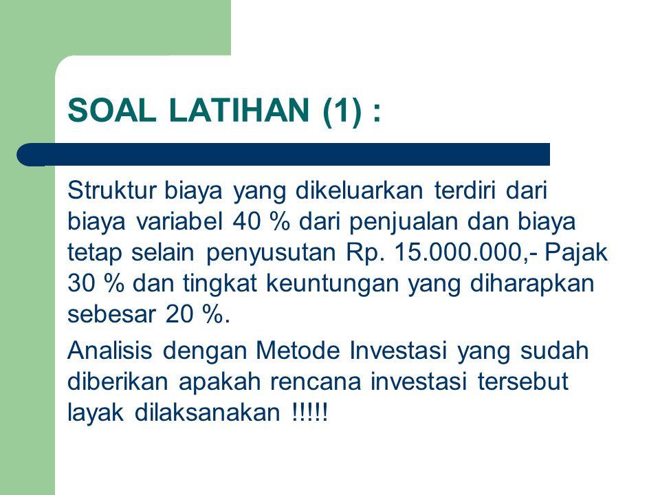 SOAL LATIHAN (1) :