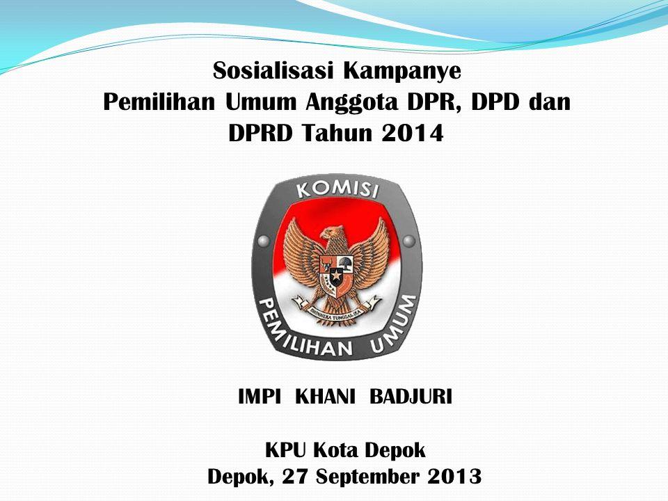 Pemilihan Umum Anggota DPR, DPD dan DPRD Tahun 2014