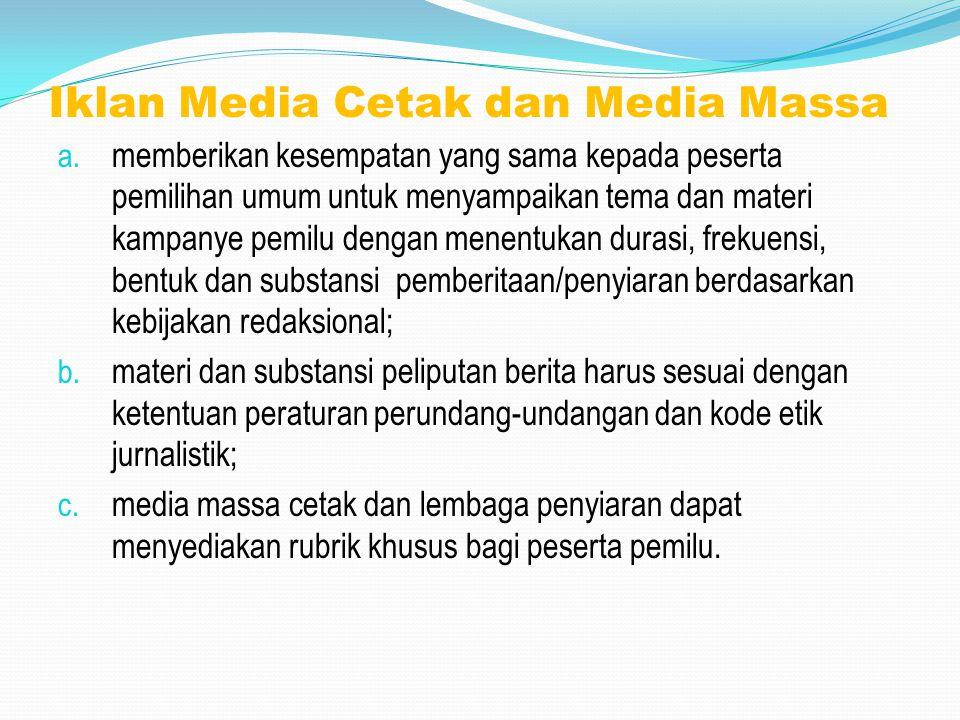 Iklan Media Cetak dan Media Massa