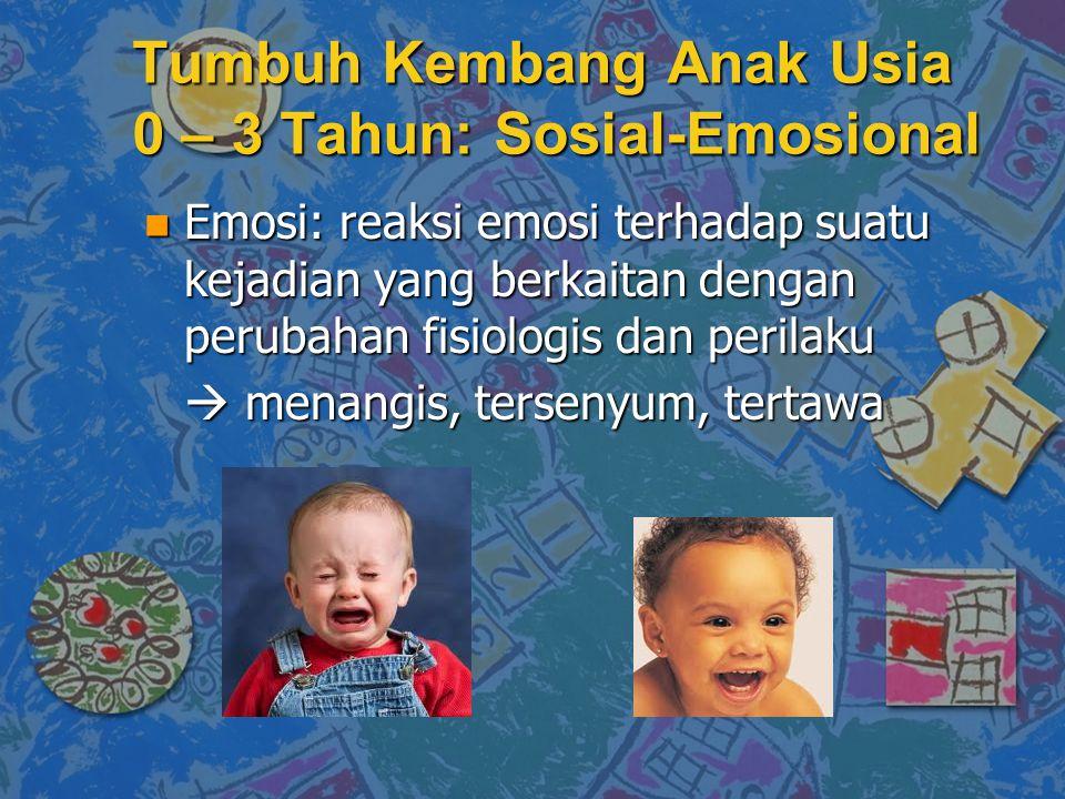 Tumbuh Kembang Anak Usia 0 – 3 Tahun: Sosial-Emosional