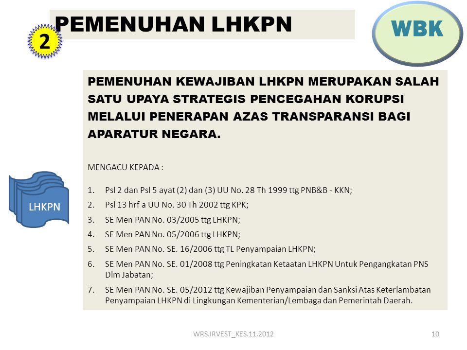 WBK PEMENUHAN LHKPN. 2.