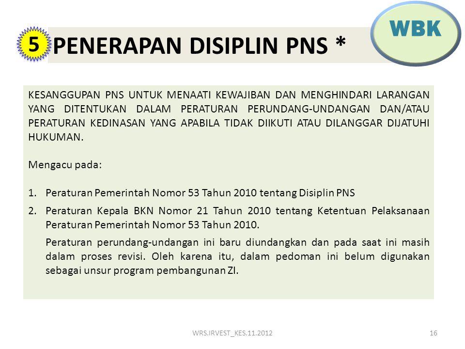 PENERAPAN DISIPLIN PNS *