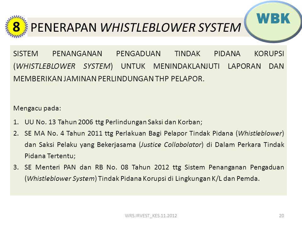 WBK 8 PENERAPAN WHISTLEBLOWER SYSTEM TIPIKOR