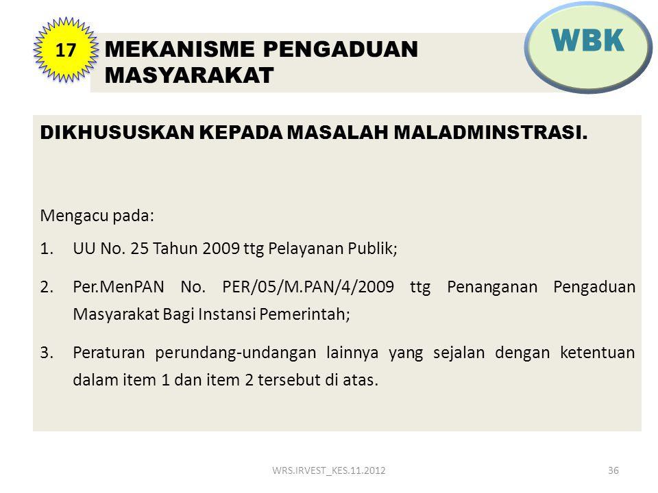 WBK MEKANISME PENGADUAN MASYARAKAT 17