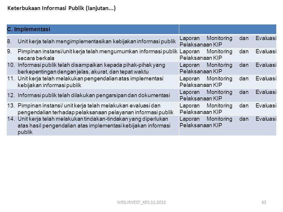 Keterbukaan Informasi Publik (lanjutan...)