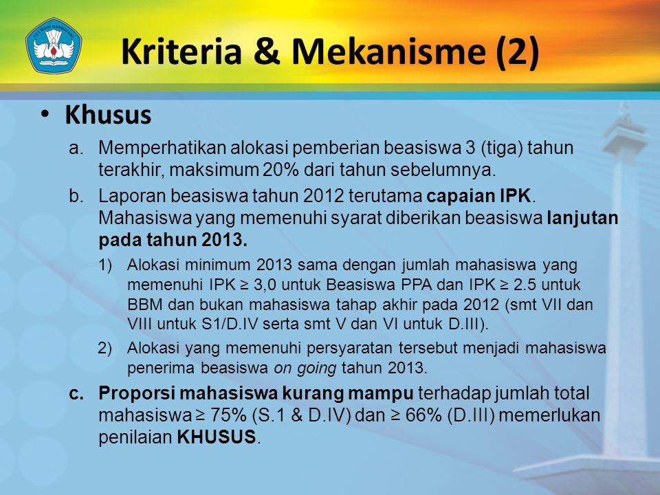 Kriteria & Mekanisme (2)