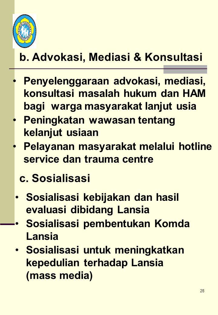b. Advokasi, Mediasi & Konsultasi