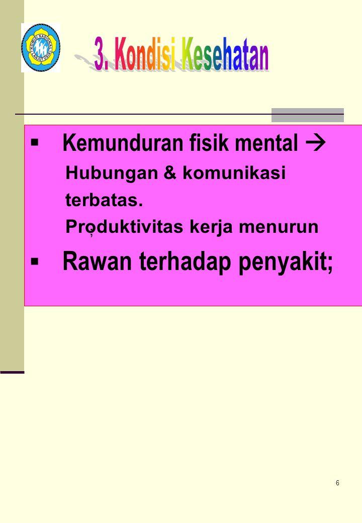 Kemunduran fisik mental 