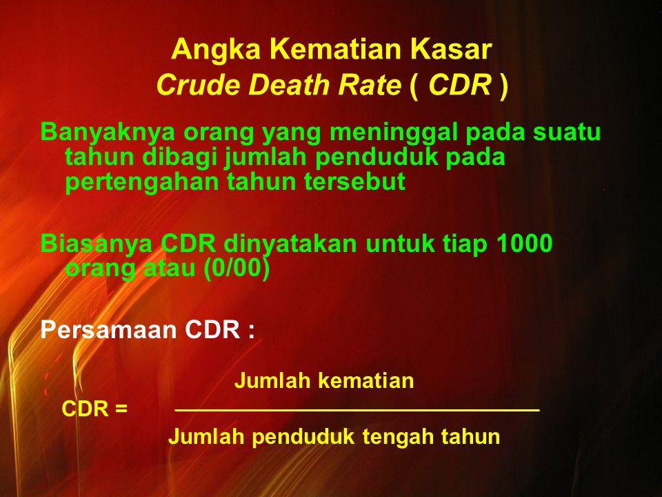 Angka Kematian Kasar Crude Death Rate ( CDR )