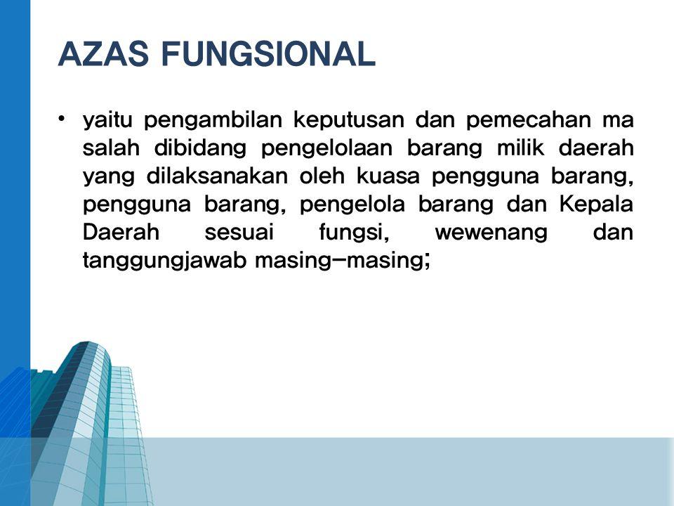 AZAS FUNGSIONAL