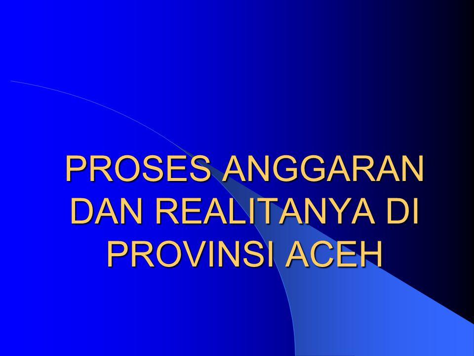 PROSES ANGGARAN DAN REALITANYA DI PROVINSI ACEH