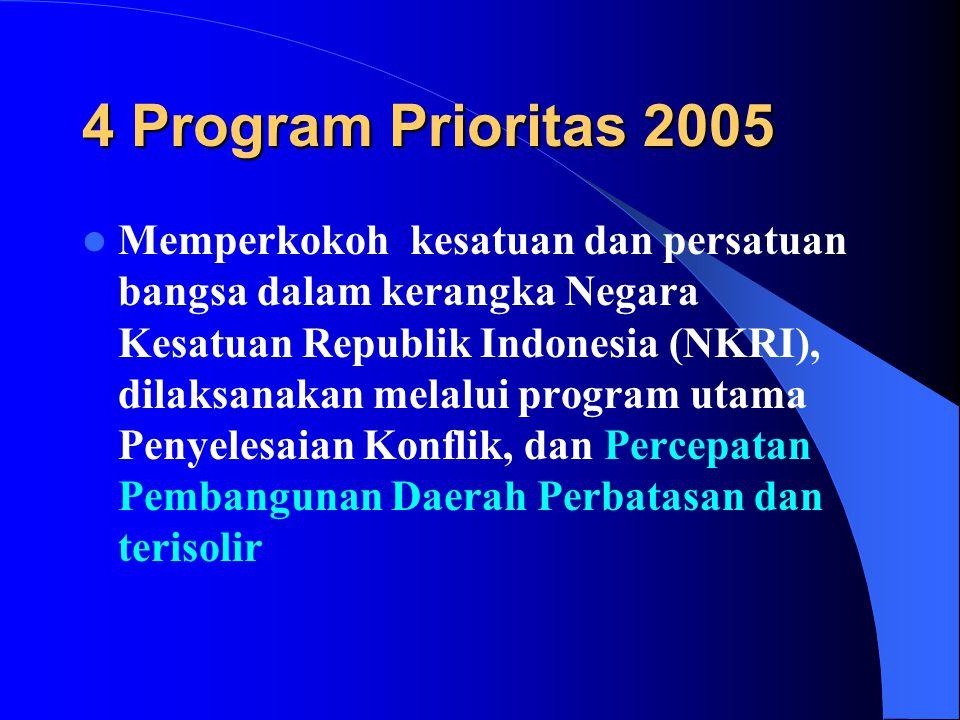 4 Program Prioritas 2005