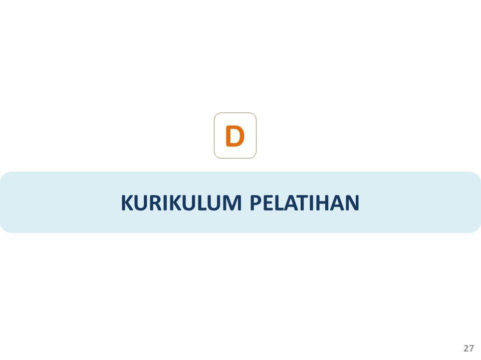 D KURIKULUM PELATIHAN