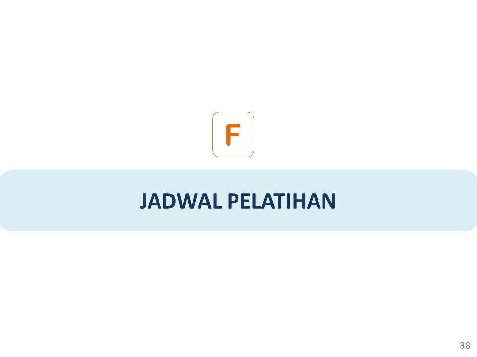 F JADWAL PELATIHAN