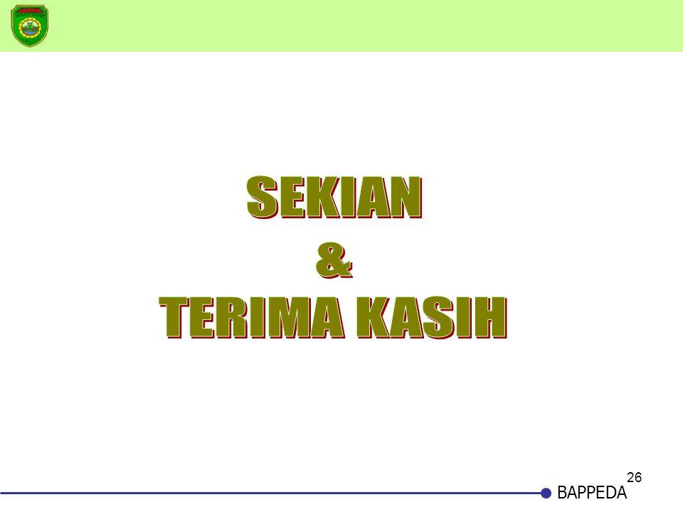 SEKIAN & TERIMA KASIH BAPPEDA