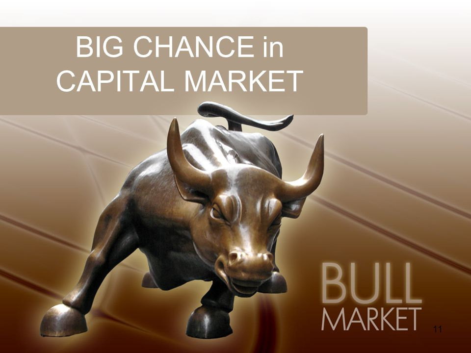BIG CHANCE in CAPITAL MARKET
