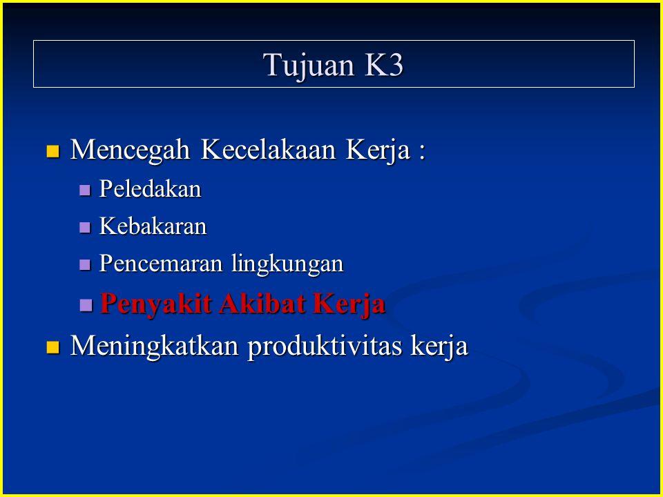 Tujuan K3 Mencegah Kecelakaan Kerja : Penyakit Akibat Kerja