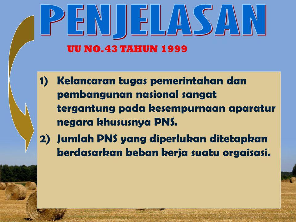 PENJELASAN UU NO.43 TAHUN 1999.