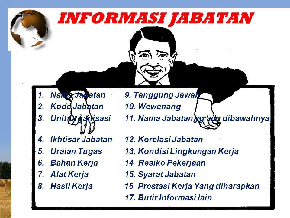 INFORMASI JABATAN Nama Jabatan 9. Tanggung Jawab