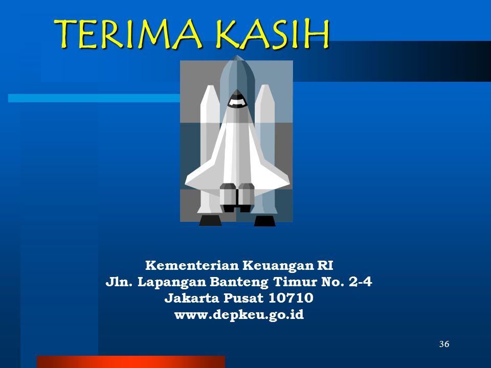Kementerian Keuangan RI Jln. Lapangan Banteng Timur No. 2-4