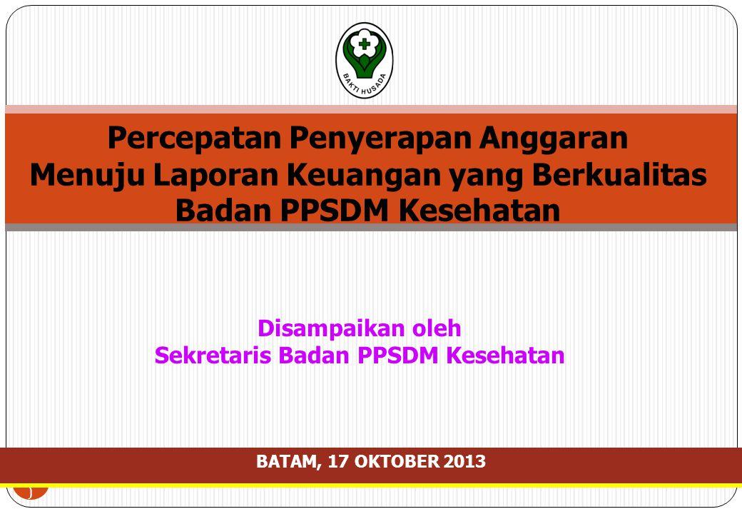 Sekretaris Badan PPSDM Kesehatan