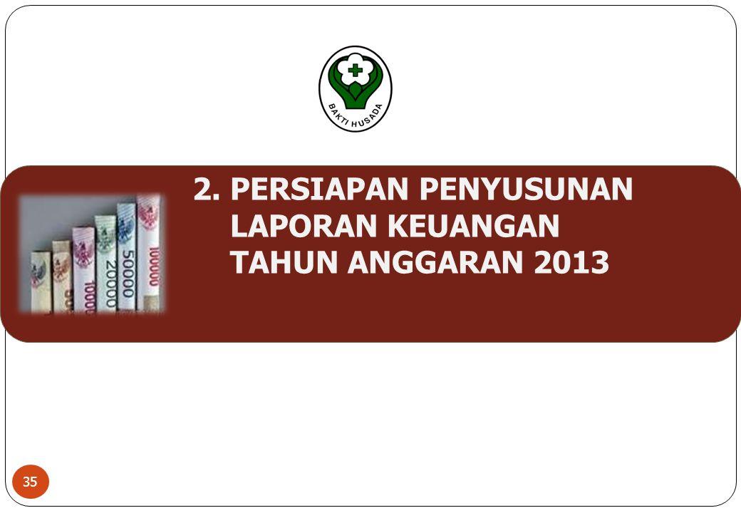 2. PERSIAPAN PENYUSUNAN LAPORAN KEUANGAN TAHUN ANGGARAN 2013