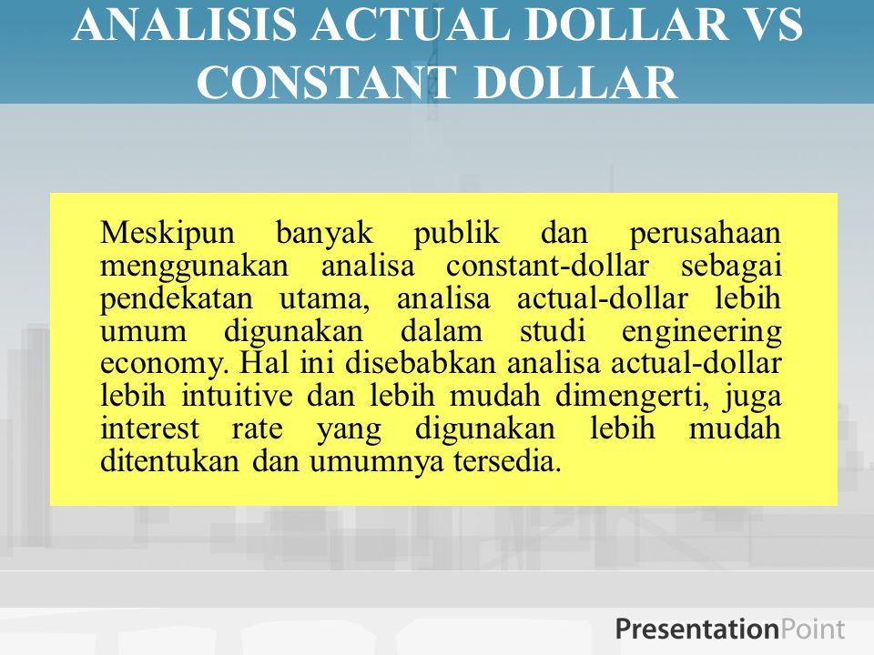 ANALISIS ACTUAL DOLLAR VS CONSTANT DOLLAR