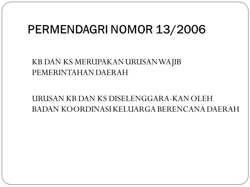 PERMENDAGRI NOMOR 13/2006 KB DAN KS MERUPAKAN URUSAN WAJIB PEMERINTAHAN DAERAH.
