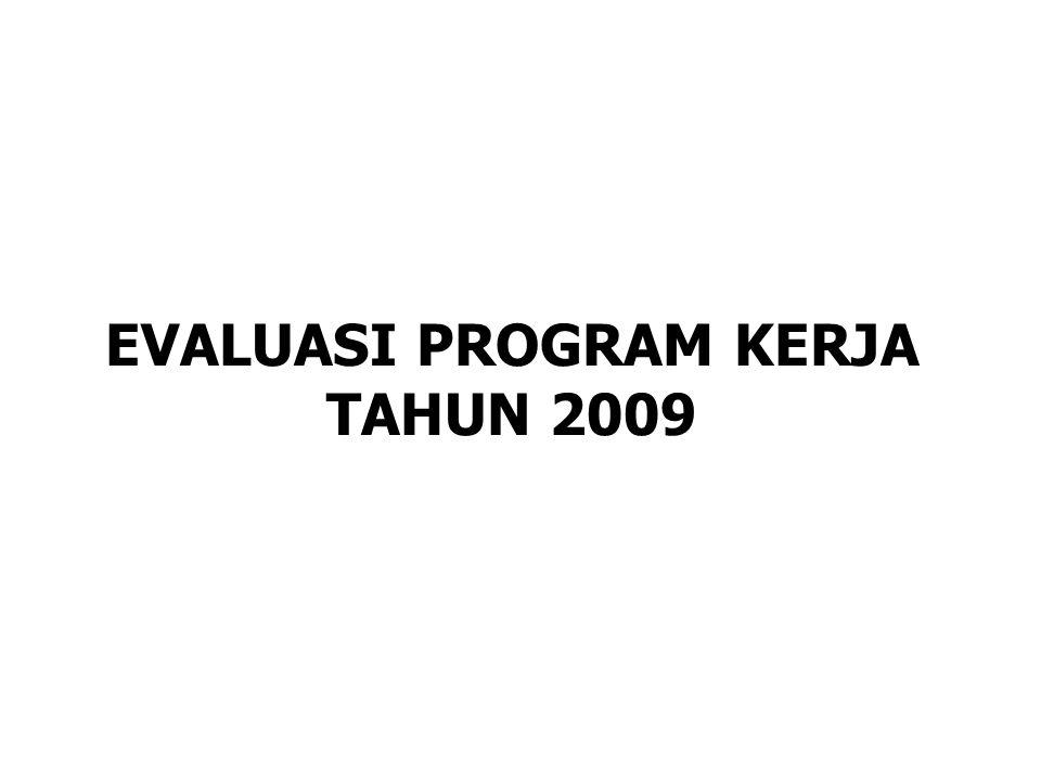EVALUASI PROGRAM KERJA TAHUN 2009