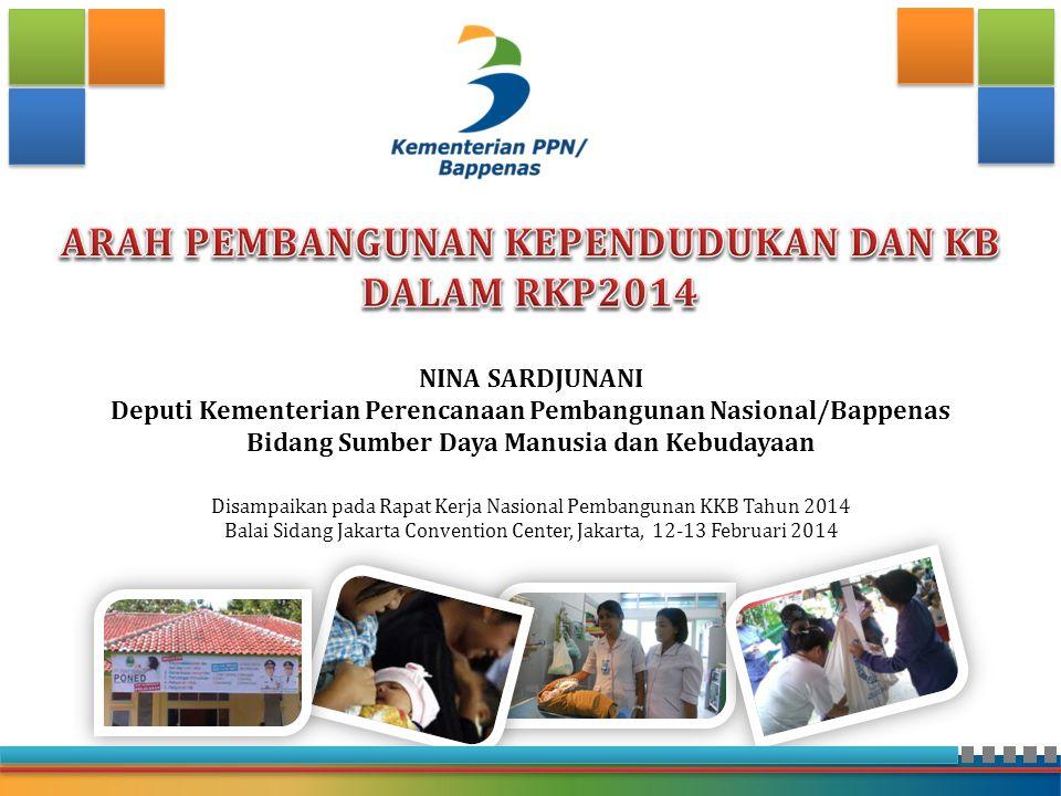 ARAH PEMBANGUNAN KEPENDUDUKAN DAN KB DALAM RKP2014