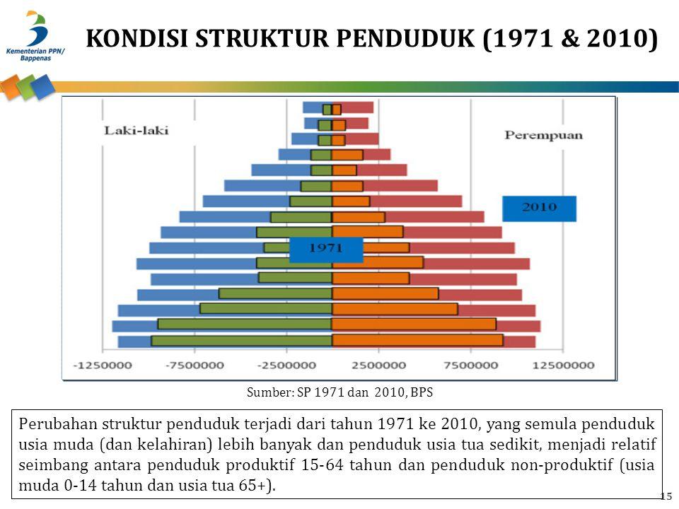 KONDISI STRUKTUR PENDUDUK (1971 & 2010)