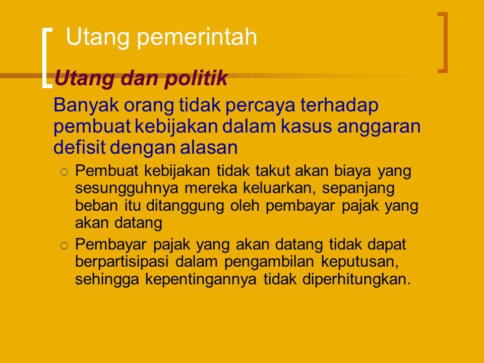 Utang pemerintah Utang dan politik