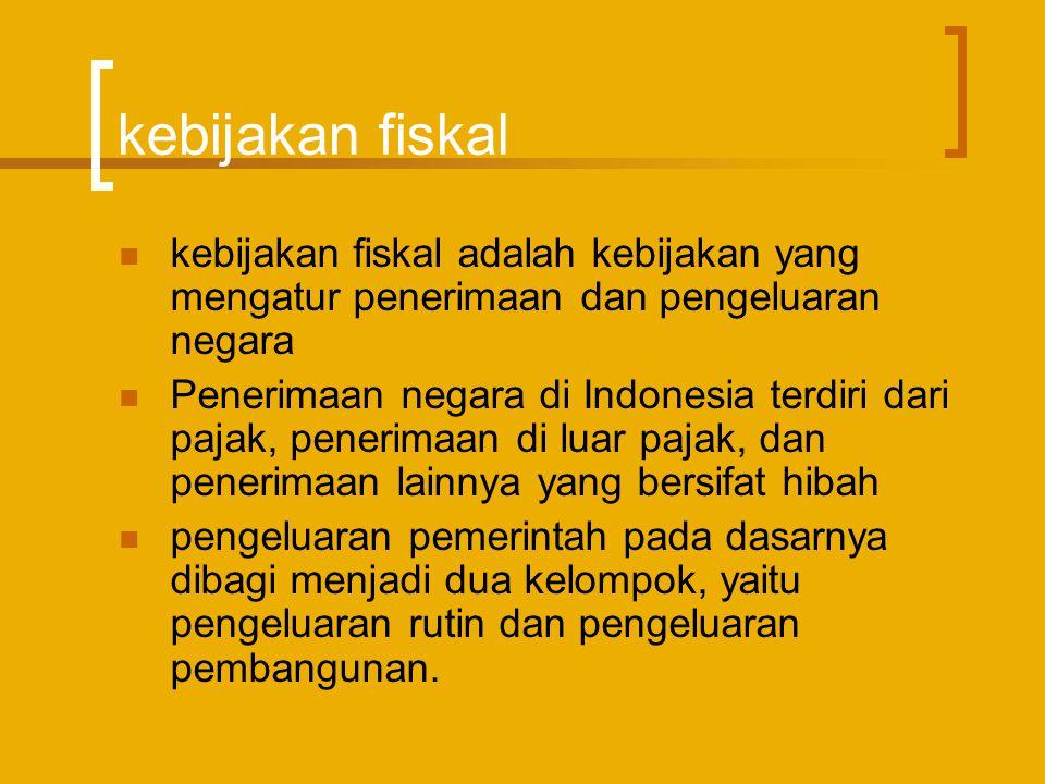 kebijakan fiskal kebijakan fiskal adalah kebijakan yang mengatur penerimaan dan pengeluaran negara.