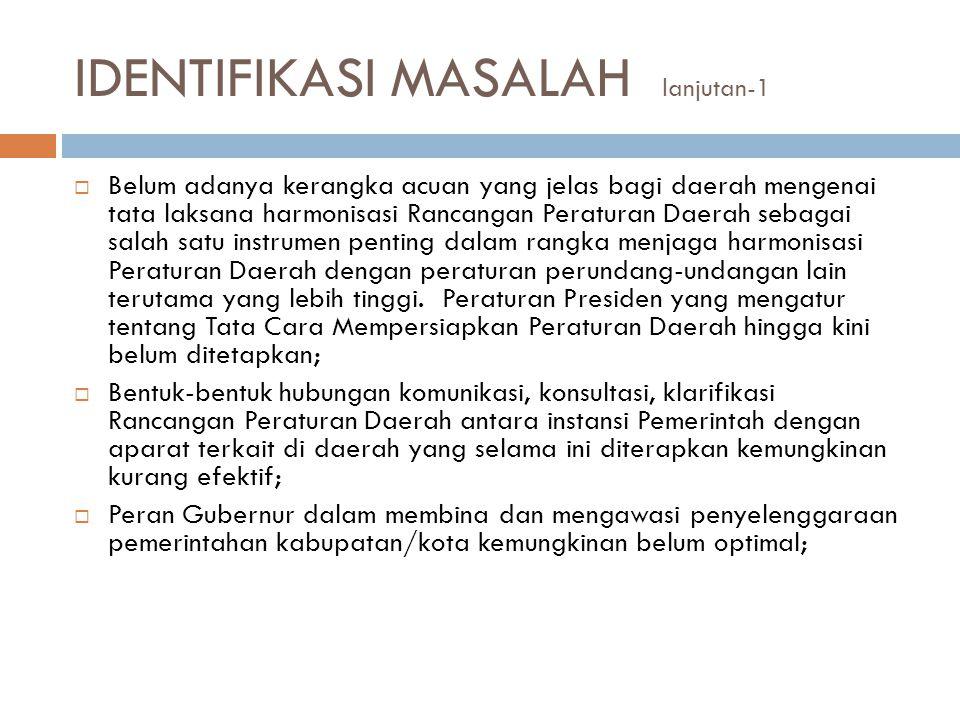 IDENTIFIKASI MASALAH lanjutan-1