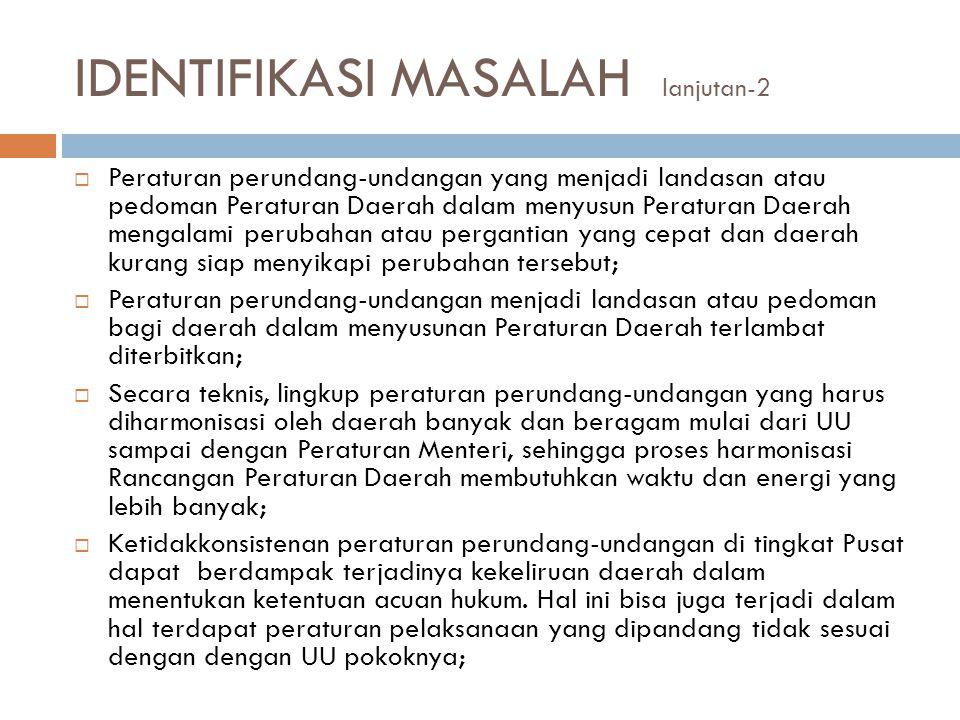IDENTIFIKASI MASALAH lanjutan-2