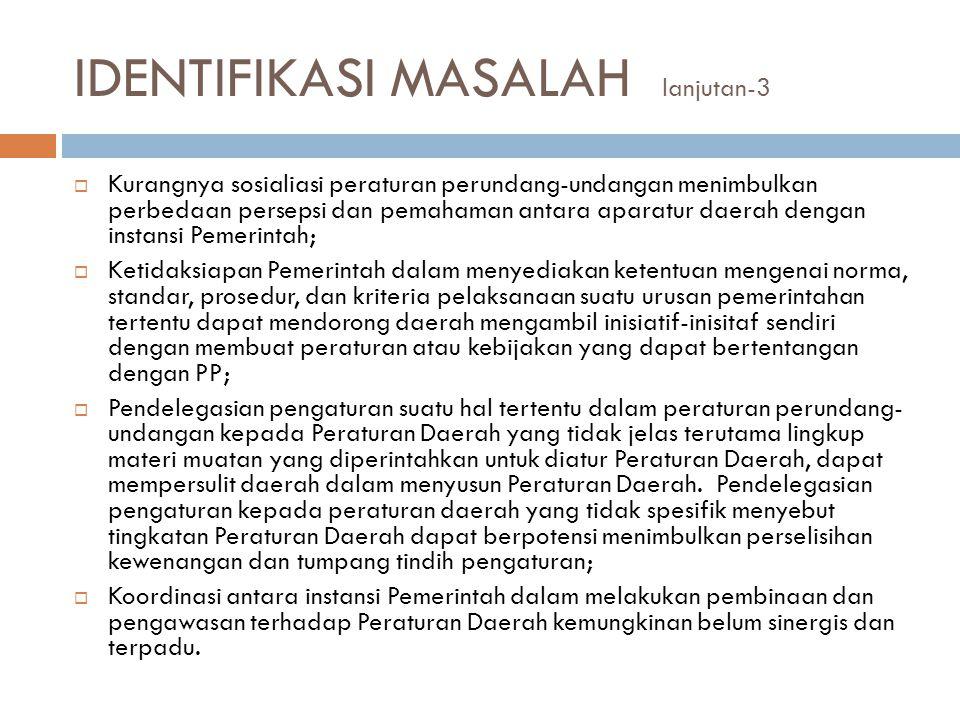 IDENTIFIKASI MASALAH lanjutan-3