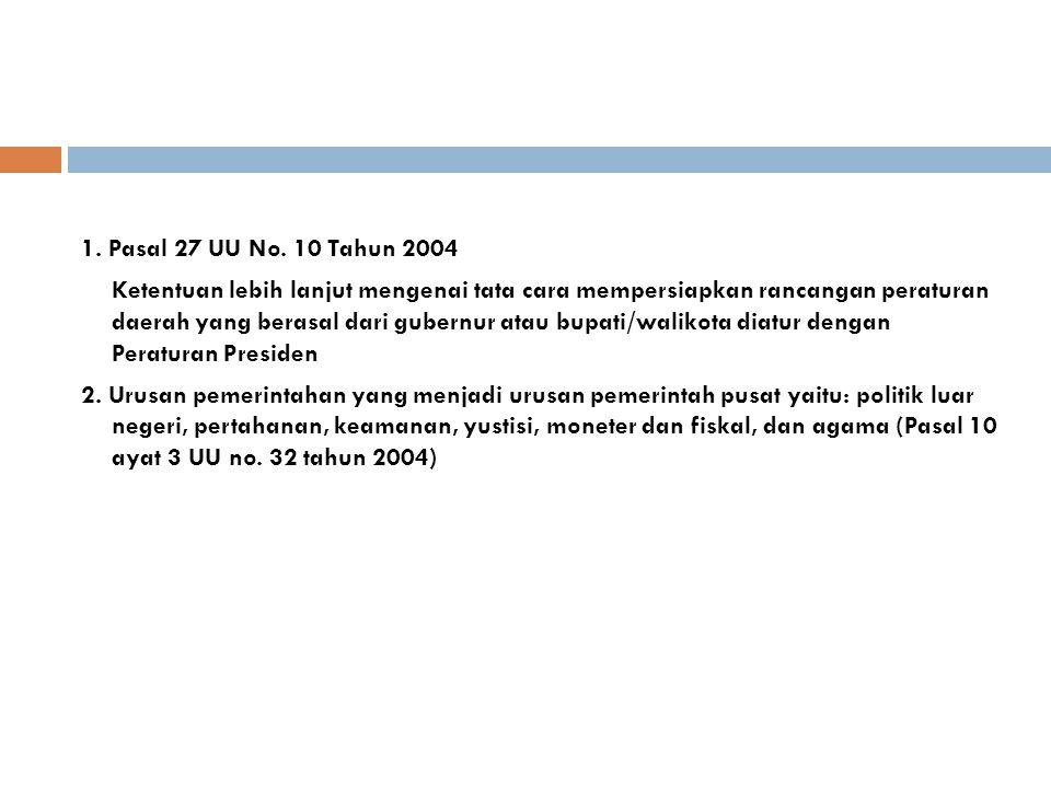 1. Pasal 27 UU No. 10 Tahun 2004
