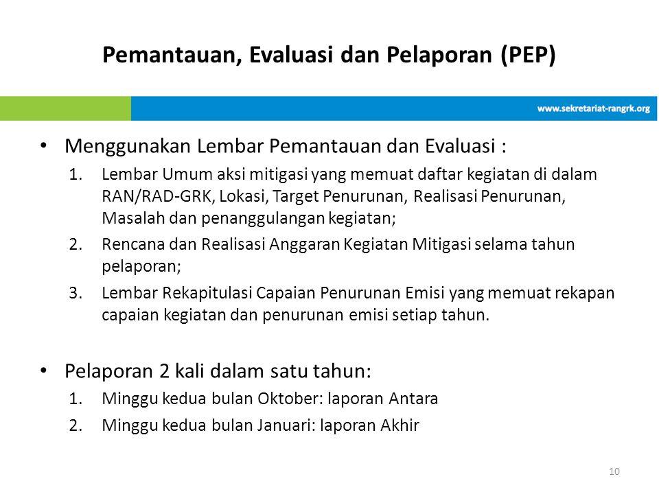 Pemantauan, Evaluasi dan Pelaporan (PEP)